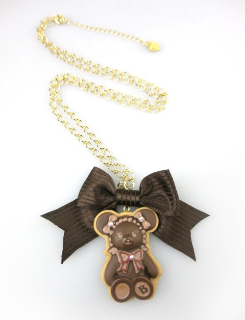 BABY, THE STARS SHINE BRIGHT くまくみゃちゃんチョコクッキーネックレス