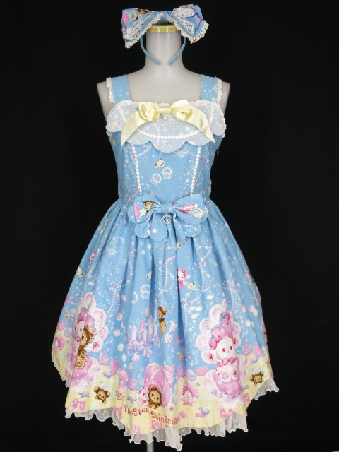 BABY, THE STARS SHINE BRIGHT くみゃちゃんのマリンアイランド柄ジャンパースカートI型&カチューシャ