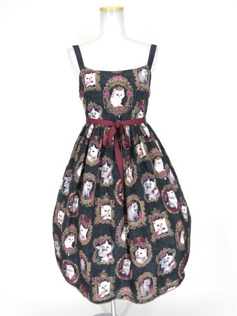 Enchantlic Enchantilly 猫の王女様の肖像画ジャンパースカート