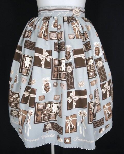 Innocent World チョコレートテディベアースカート&カチューシャ&リボンクリップ セット
