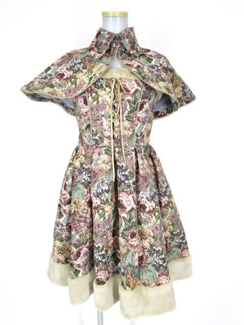 Victorian maiden ケープ付きゴブランファージャンパースカート