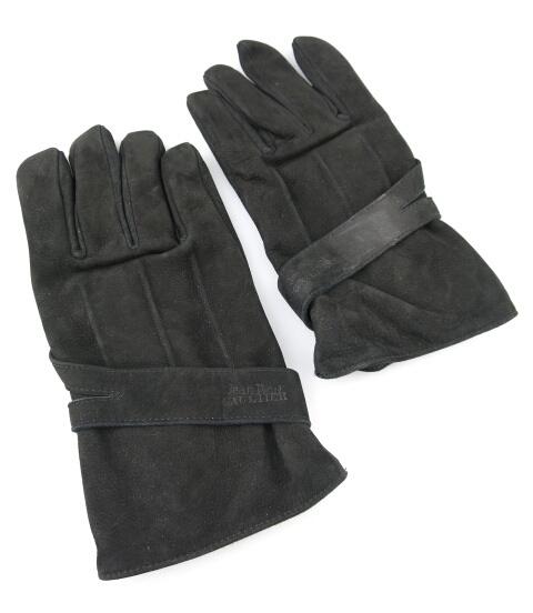 Jean Paul GAULTIER HOMME 甲ベルト付きレザー手袋(牛革・ヌバック)