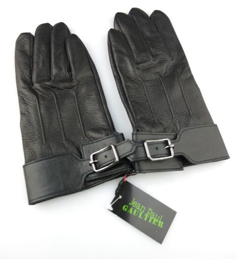 Jean Paul GAULTIER ベルト付きレザー手袋(鹿革)
