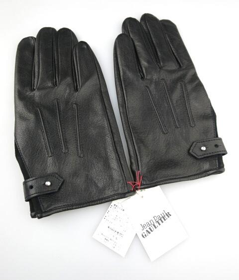 Jean Paul GAULTIER ベルト付きレザー手袋(牛革)