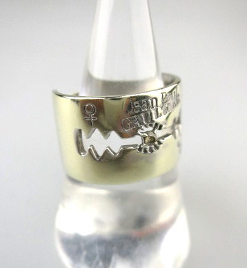 Jean Paul GAULTIER カミソリリング(K10ホワイトゴールド&0.03ctダイヤ)