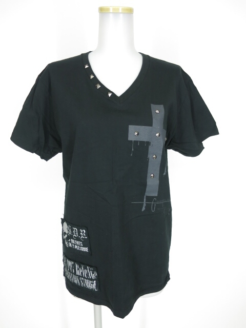 SEX POT STUDSクロスプリントTシャツ