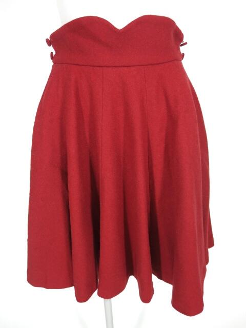Jane Marple ウールフレアミニスカート