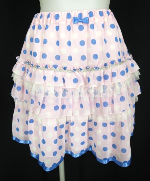 Emily Temple cute ドットシフォンミニスカート