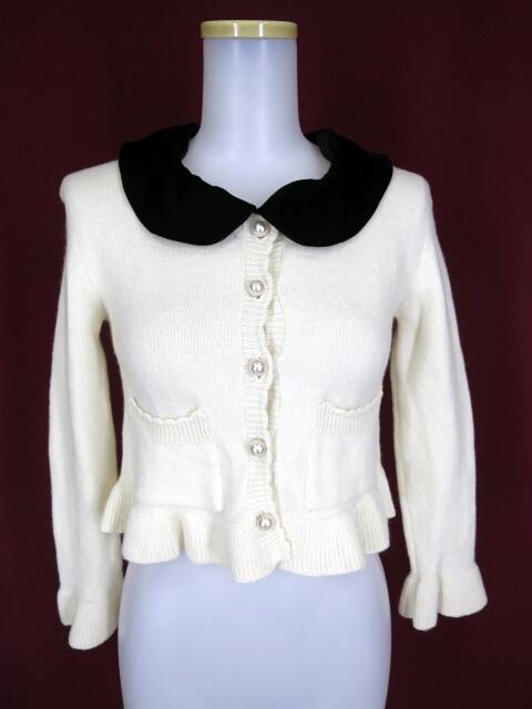 Jane Marple ベルベット衿付きカーディガン