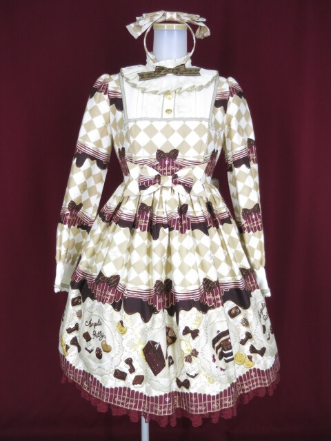 Angelic Pretty Antique Chocolaterieワンピース&カチューシャ セット