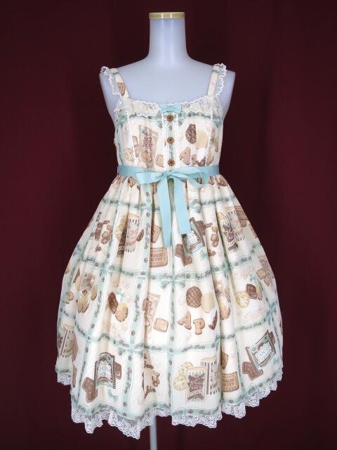 Angelic Pretty Cream Cookie Collectionハイウエストジャンパースカート