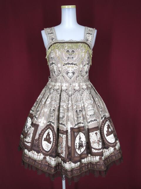 Angelic Pretty Musee du Chocolat ジャンパースカート&ハーフボンネット&カチューシャ