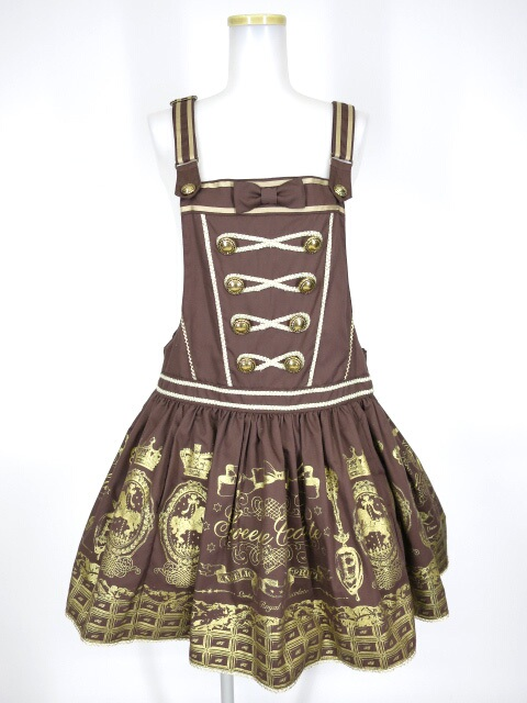 Angelic Pretty Royal Creamy Chocolateサロペット