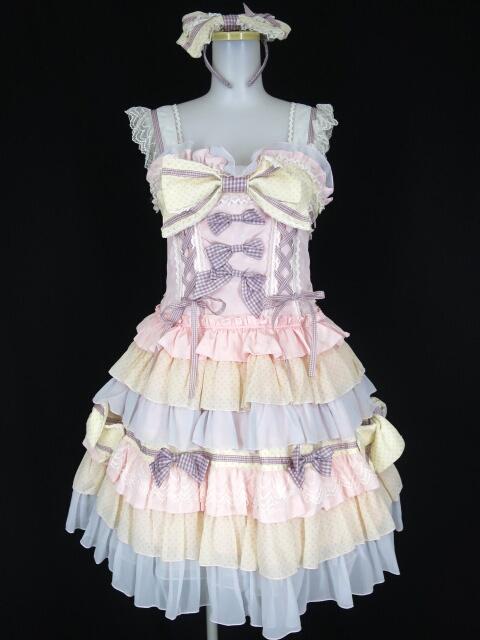 BABY, THE STARS SHINE BRIGHT Chocolat ア・ラ・モードジャンパースカート&カチューシャ
