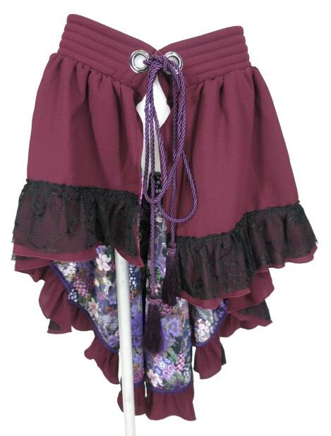 Qutie Frash 裏地和柄オーバースカート