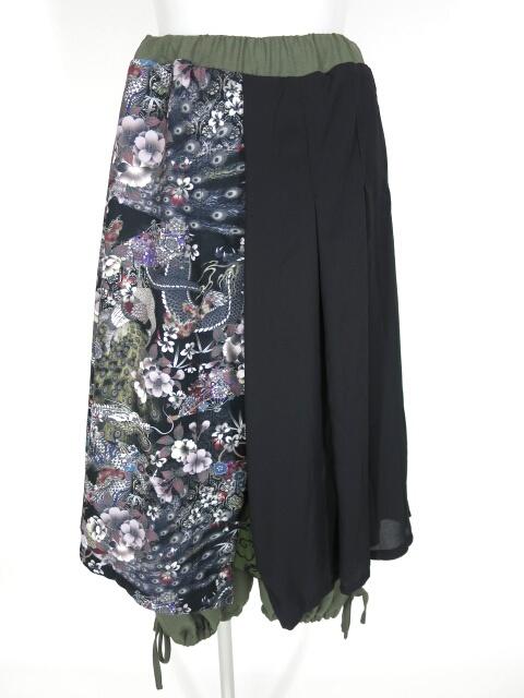 Qutie Frash オーバースカート付きワイドパンツ