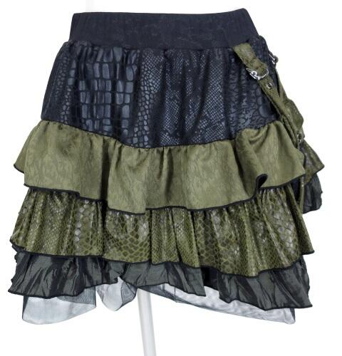 Qutie Frash ポーチ付きフリルスカート