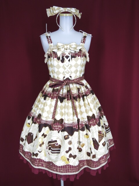 Angelic Pretty Antique Chocolaterie ジャンパースカートset(JSK+カチューシャ)