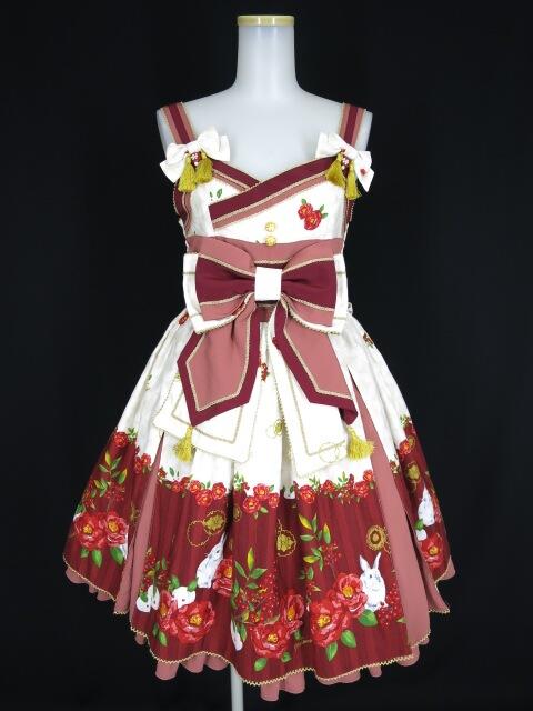 Metamorphose 風花のゆきうさぎタックジャンパースカート