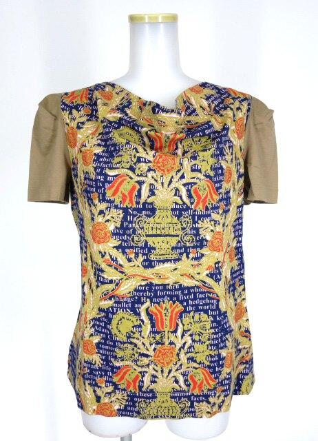 Vivienne Westwood RED LABEL 英字&花瓶柄切替半袖カットソー