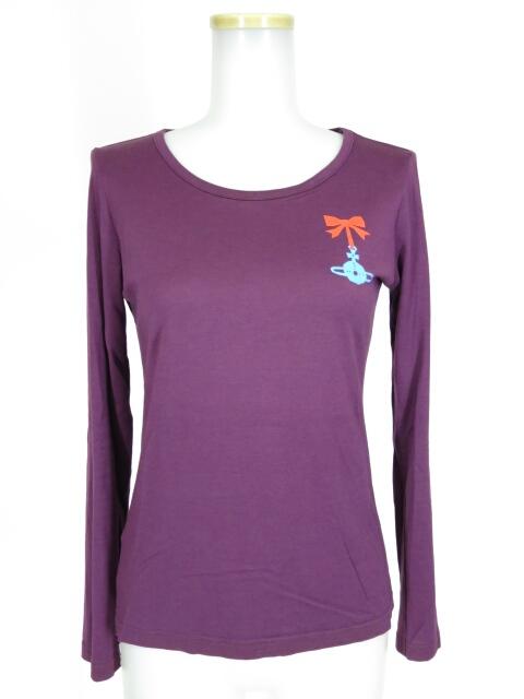 Vivienne Westwood RED LABEL リボンオーブプリント長袖Tシャツ