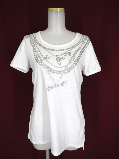 Vivienne Westwood ANGLOMANIA �... ネックレスプリントTシャツ