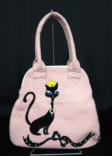 Emily Temple cute 黒猫 ツイードバッグ