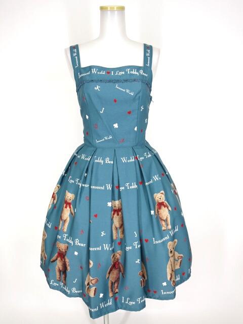 Innocent World テディベアートランプジャストウエストジャンパースカート
