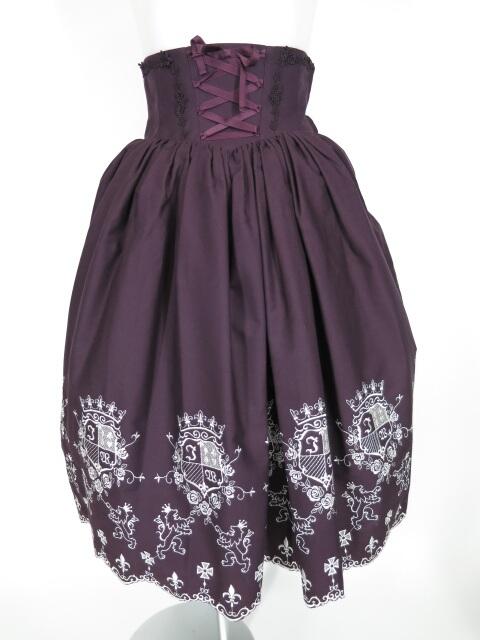 Innocent World エンブレム刺繍スカート