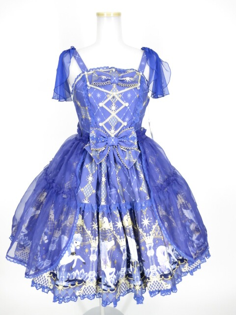 Angelic Pretty Crystal Dream Carnivalティアードジャンパースカート&オーバーニーソックス