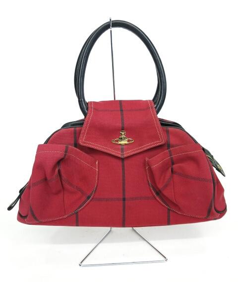 Vivienne Westwood チェック柄 丸ハンドルバッグ