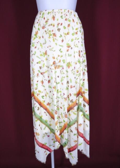 Jean Paul GAULTIER 花柄パワーネットロングスカート
