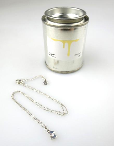 Q-pot. プチチーズネックレス (silver)