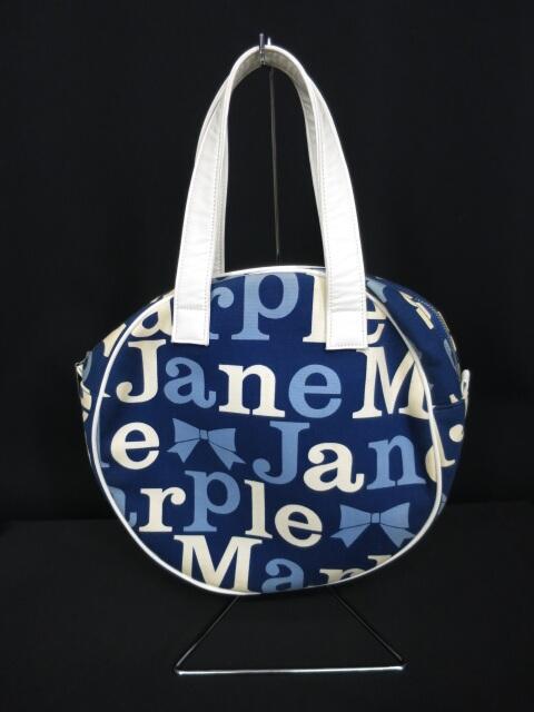 Jane Marple ロゴ柄丸型バッグ