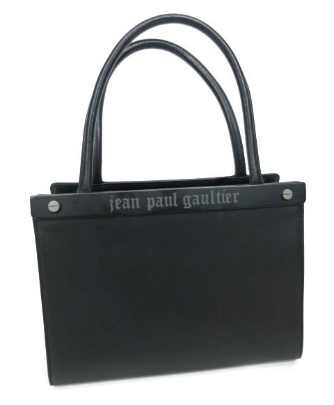 Jean Paul GAULTIER メタルロゴプレートハンドバッグ