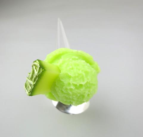 Q-pot. メロンシャーベットアイス リング