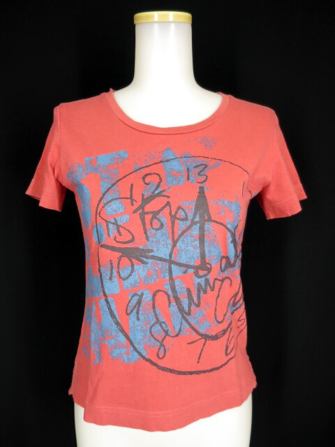 Vivienne Westwood RED LABEL CHOICE クロックプリントTシャツ