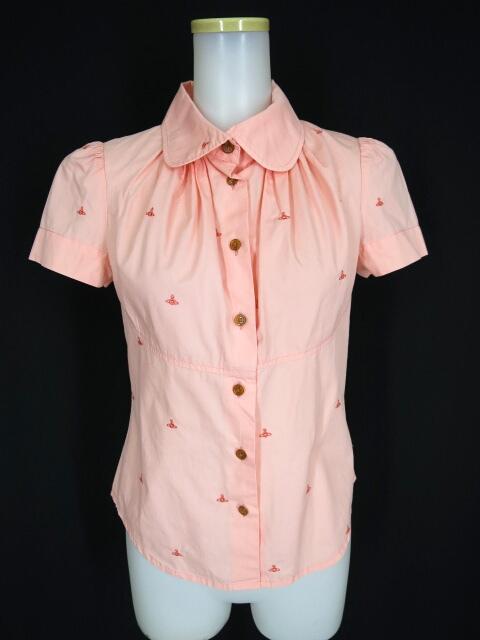 Vivienne Westwood RED LABEL オーブ刺繍柄半袖ブラウス