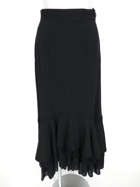 Moi-meme-Moitie 裾フリルロングスカート