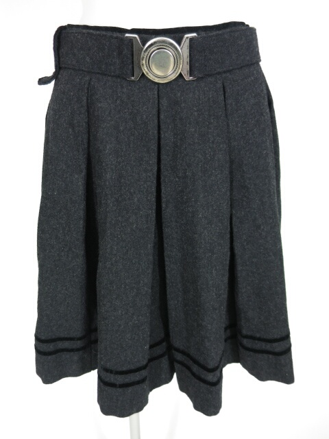 Jane Marple ベルト付きプリーツスカート