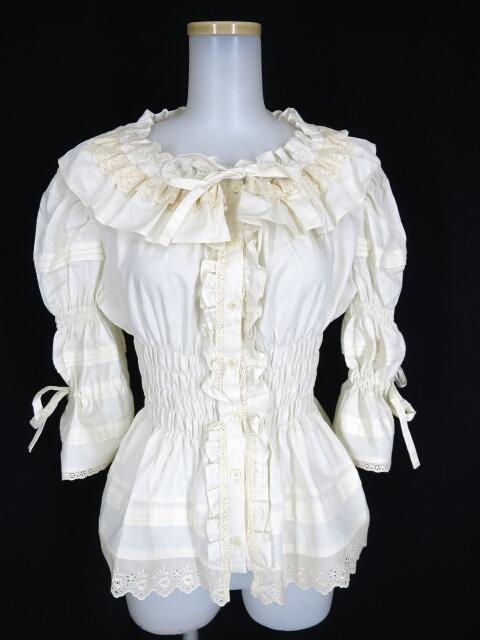Victorian maiden ピンタックシャーリングブラウス