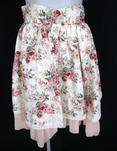 Victorian maiden ロココブーケ柄スカート