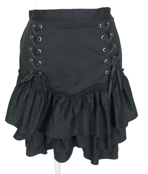 Victorian maiden 編み上げ付きフリルスカート