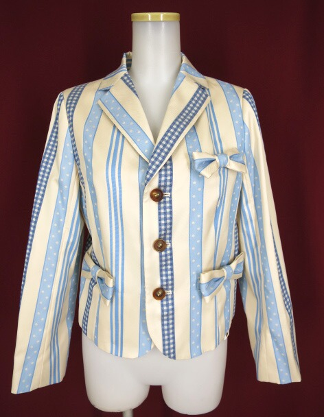Jane Marple Ribbon jacquard stripeのジャケット