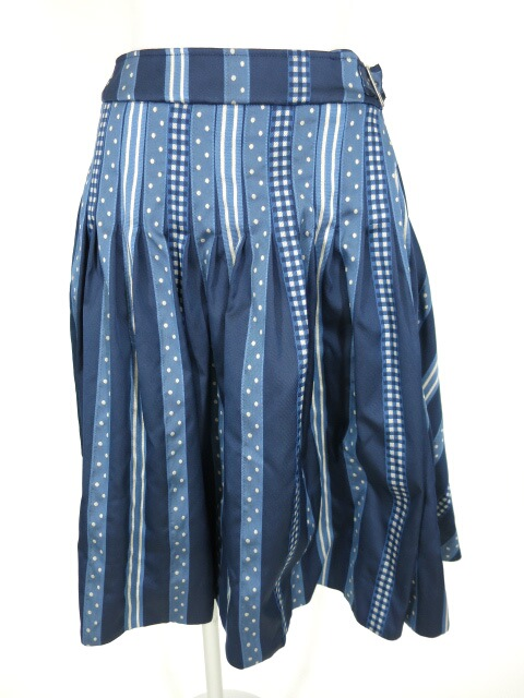 Jane Marple Ribbon jacquard stripeの2Faceスカート