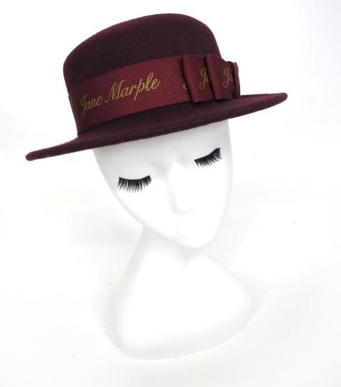 Jane Marple ロゴリボンハット
