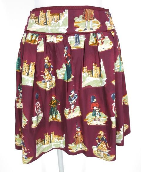 Jane Marple Old Englandプリントのミニスカート