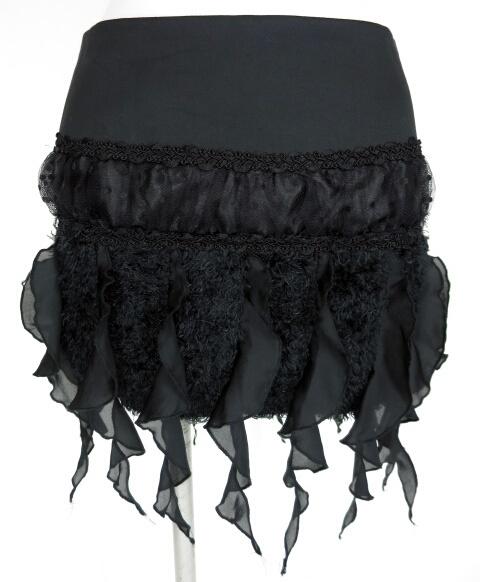 alice auaa シフォンフリル付きミニスカート