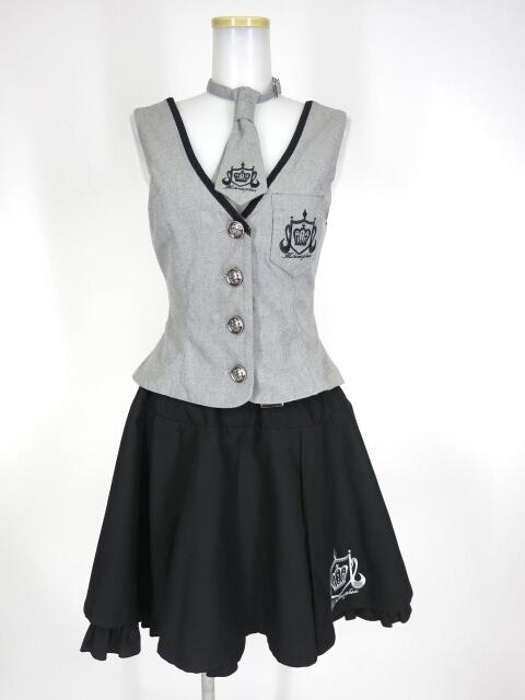 Metamorphose みならいスカート&ベスト&ネクタイ セット