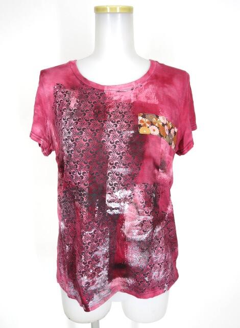 gouk REN 家紋亀甲柄むら染めTシャツ